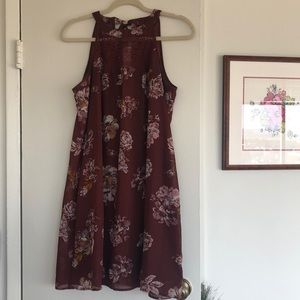 Maurice's Rust Floral Shift Dress